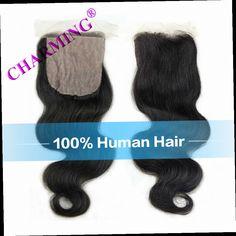 46.74$  Buy now - http://ali4pi.worldwells.pw/go.php?t=32780944996 - Charming Grade 7A Unprocessed Brazilian Virgin Hair Body Wave Silk Base Closure Cheap Human Hair Brazilian Body Wave Closure 46.74$