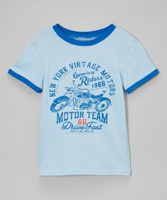 Baby Blue 'Motor Team' Tee - Toddler & Boys