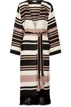 Alpaca? Please! -- Ulla Johnson   Areli fringed striped alpaca coat   NET-A-PORTER.COM