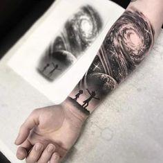 Rick'n'Morty tattoo