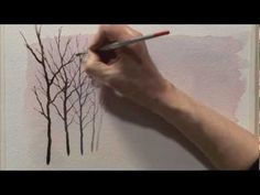 Trees, Woodlands & Forests in Watercolour Two - Part One - YouTube