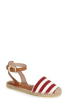I need flats working outdoors. Louise+et+Cie+'Frida'+Ankle+Strap+Espadrille+Flat+(Women)+available+at+#Nordstrom