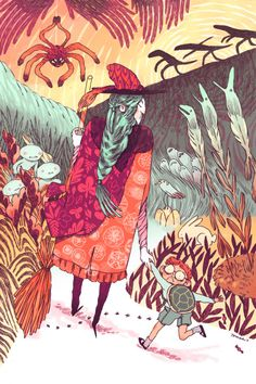 Illustrations by Nuria Tamarit, an illustrator from Valencia, Spain.