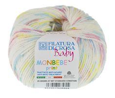 """Filatura Di Crosa Baby """"Monbebe Print"""" Yarns, Bean Bag Chair, Wool, Cotton, Baby, Design, Beanbag Chair, Baby Humor"""