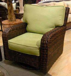 Bermuda-Wicker-Swivel-Glider. Swivel Glider, Gliders, Wicker, Armchair, Furniture, Home Decor, Sofa Chair, Single Sofa, Decoration Home