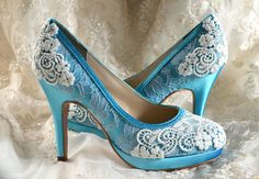 Wedding Shoes  Custom Colors 120 Choices Vintage by Pink2Blue, $160.00