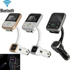 Car Kit LCD Wireless Bluetooth FM Transmitter MP3 Player SD USB+Remote