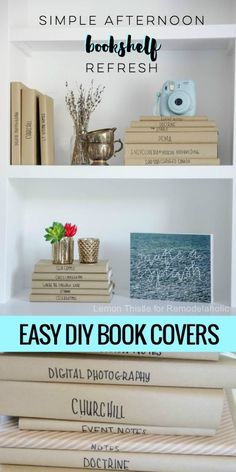 Refresh your bookshelf in an afternoon with easy and inexpensive DIY paper book covers -- so you can have your favorite (worn) books and a pretty bookshelf, too! Paper Book Covers, Blogger Home, Floral Shower Curtains, Diy Home Improvement, Book Crafts, Diy Paper, Black House, Diy Home Decor, Easy Diy