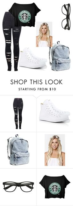 """Untitled #113"" by lovepeaceandnetflex ❤ liked on Polyvore featuring 2LUV, Converse, H&M and With Love From CA"