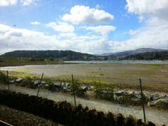 Conwy from a train approaching Deganwy