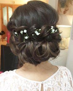 Braid updo wedding hair