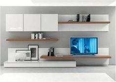 Modern Wall Unit Prijzen – Living Room – Welcome Tv Unit Living Room Tv, Living Room Modern, Home And Living, Living Room Designs, Tv Unit Design, Tv Wall Design, King Furniture, Furniture Design, Muebles Rack Tv