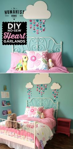 DIY No-Sew Paper Heart Garland Tutorial