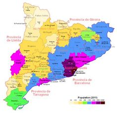 Catalan Language Map Credits for