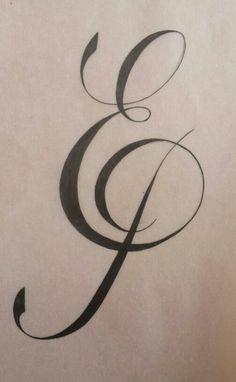 monogram sketch #monogram #sketch #ep
