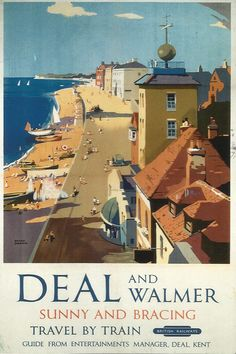 Deal  Walmer railway poster English seaside