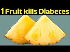 Only 1 Fruit Kills your Diabetes Naturally - YouTube