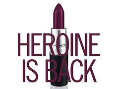 Makeup Preview: MAC Brings Back Heroine Lipstick - Fan Favorite Best Matte Purple Shade