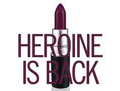 Makeup Preview: MAC Brings Back Heroine Lipstick - Fan Favorite Best Matte Purple Shade