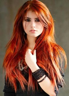 red hair color for fair skin and brown eyes