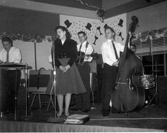 Patsy with Sonny Hawthorne and His Blue Rhythym Boys, at the Fire Hall in Lorton, Virginia, New Year's Eve 1957