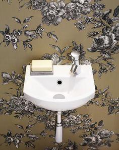 Tvättställ Logic, ca 880 kr, Gustavsberg. Small Bathroom Sinks, Bathrooms, Toile Wallpaper, Wainscoting, Interior Design, Wood, Home Decor, Textiles, Wallpapers