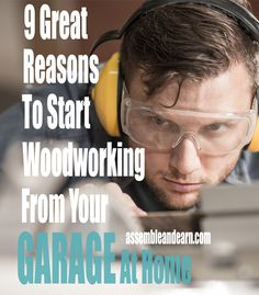 This one's a no brainer, but these are some great reasons why you should set up your wood shop in a car garage in your home.