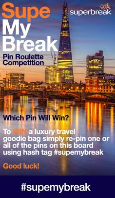 Explore the best of our travel offers including UK getaways, European city breaks and long-haul adventures. Travel Kits, Us Travel, Boggie Board, Travel Competitions, Roulette Game, European City Breaks, Terms And Conditions, Crossed Fingers, Long Haul