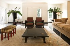 Beverly Hills lower living room by Anne Hauck