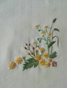 Herb Embroidery, Hand Embroidery Flowers, Types Of Embroidery, Japanese Embroidery, Hardanger Embroidery, Silk Ribbon Embroidery, Hand Embroidery Designs, Cross Stitch Embroidery, Embroidery Patterns
