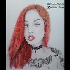 Desenho concluído :) a suicide girl @brunabrucesuicide  #suicidegirls #sgfanart #worldofpencils #worldofartists #redhead #redhair #realistic #tattoos #illustration #instaart #ink #paper #pencil #phanasu #artnerd #artfido #artist #arts_help #art #arte #arts #artoftheday #draw #desenh4ndo #dibujo #desenho #colorpencils