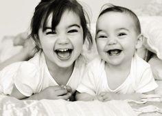 babies, black and white, children, cute, fun, girls