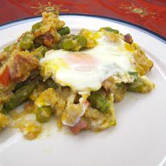 Cozinhar sem Lactose: Migas de espargos com ovos escalfados