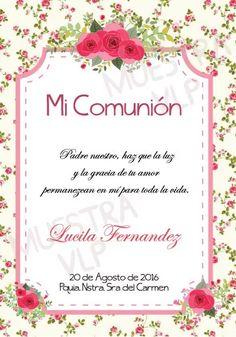 Tarjeta Comunion Nena Para Imprimir - $ 19,00 en Mercado Libre