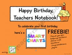 Happy Birthday, Teachers Notebook. It's a party, and everyone's invited to download a present!