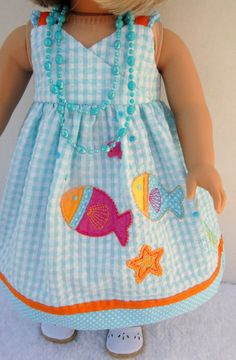 American Girl 18 inch Doll Clothes Seaside by TwirlyGirlDollDesign, $29.99