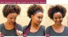 penteados afros com lenços - Pesquisa Google