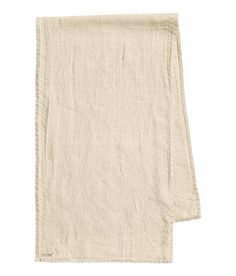 H&M | Table runner in washed linen with small printed stamp detail in one corner. Tumble drying will help keep linen soft. - Visit hm.com to see more.