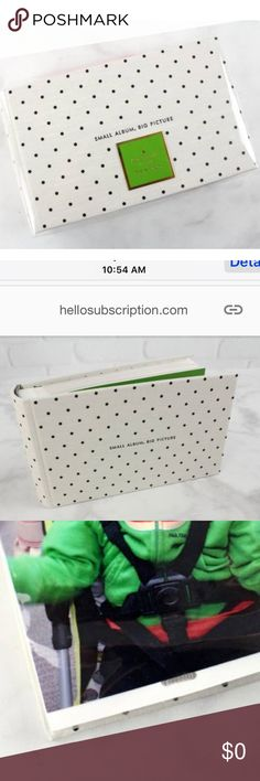 Kate Spade New York New York Photo Album ⭐️BRAND NEW IN BOX⭐️  Bring past memories to life by printing and storing them in this Kate Spade photo album. The cute polka dot design will liven up. kate spade Accessories