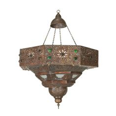 Large Antique Turkish Chandelier | From a unique collection of antique and modern more lighting at https://www.1stdibs.com/furniture/lighting/decorative-lighting-lamps/