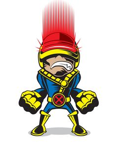 #Cyclops #Fan #Art. (MARVEL COMICS MINIS) By: Chad Woodward. (THE * 5 * STÅR * ÅWARD * OF: * AW YEAH, IT'S MAJOR ÅWESOMENESS!!!™)[THANK U 4 PINNING!!!<·><]<©>ÅÅÅ+(OB4E)