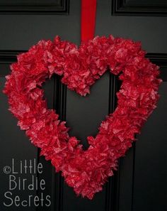 wreath, but I think I will just use leftover tissue paper from Christmas and glue to hearts together= MUCH CHEAPER!