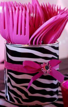 Pink/Zebra Theme Birthday Party Ideas | Photo 3 of 14 | Catch My Party