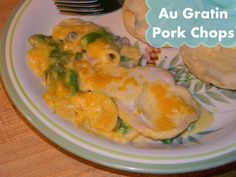Au Gratin Pork Chops...don't see why this wouldn't work in the crock pot