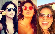 """Estilo: uma lista de objetos de desejo que tiramos do Instagram de Bruna Marquezine Um óculos de sol poderoso - uma coleção deles, na verdade. Este é um dos """"levanta-looks"""" preferidos da Bruna. Morremos com este de coração! <3 <3 <3"""