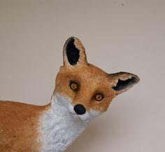 Handmade paper clay papier mache sculpture of a by albertinebelle
