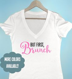 But First Brunch T-shirt Women's T-shirt by BeEverThine on Etsy