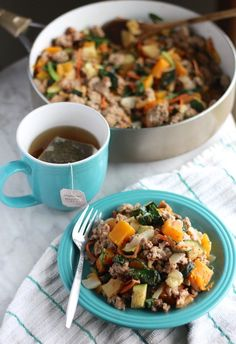 (Omit oil) Turkey Apple Hash - Use 4 apples, and serve with a grain for a perfect Phase 1 lunch.