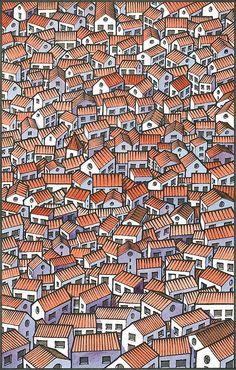 39 Ideas For Illustration Art Design Draw Arte Popular, Popular Art, Pin Ups Vintage, Posca Art, Art Graphique, Art Plastique, Little Houses, Textures Patterns, Art Patterns