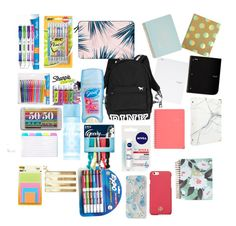 """Bts"" by oliviacarroll on Polyvore featuring Paper Mate, Aerie, Kate Spade, ban.do, Sugar Paper, Sharpie, Sonix, Tory Burch, Casetify and russell+hazel"